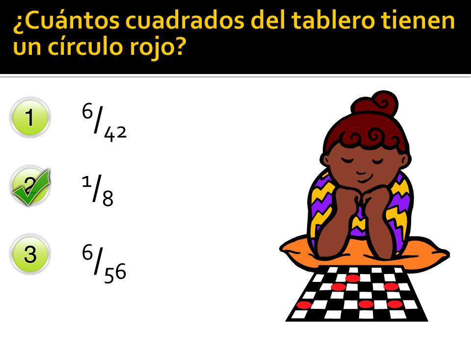 ¿Cuántos cuadrados del tablero tienen un círculo rojo