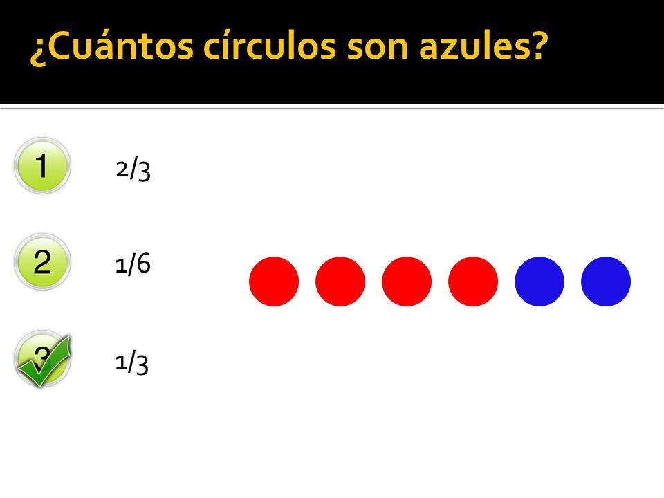 ¿Cuántos círculos son azules