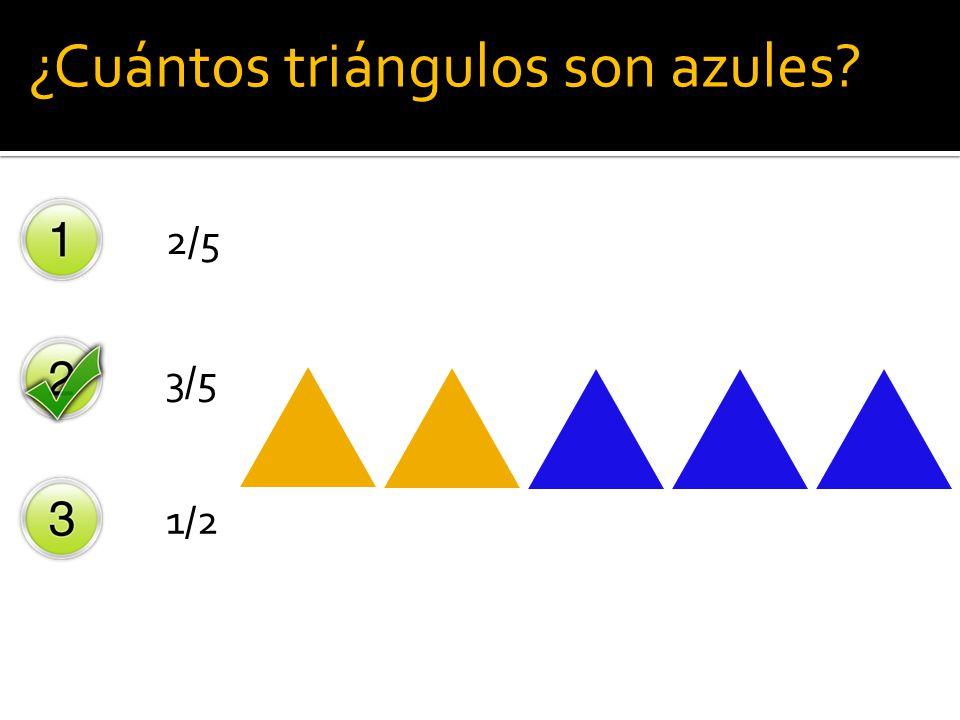¿Cuántos triángulos son azules