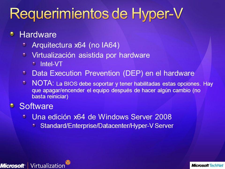 Requerimientos de Hyper-V