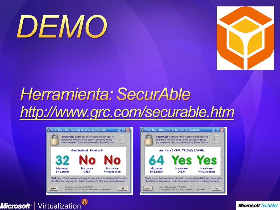 Herramienta: SecurAble http://www.grc.com/securable.htm
