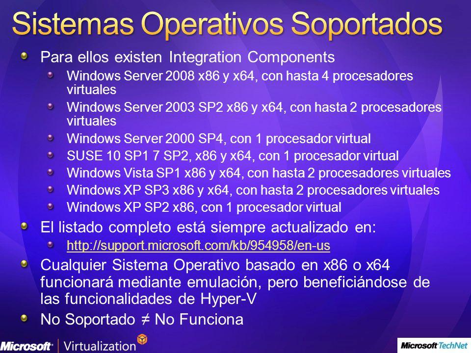 Sistemas Operativos Soportados