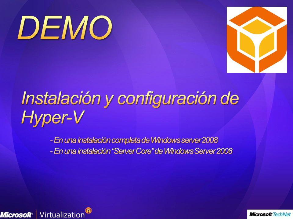 Instalación y configuración de Hyper-V