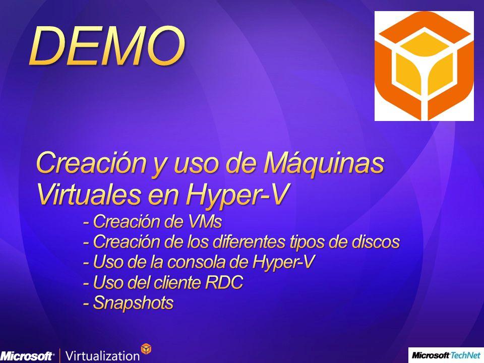 Creación y uso de Máquinas Virtuales en Hyper-V