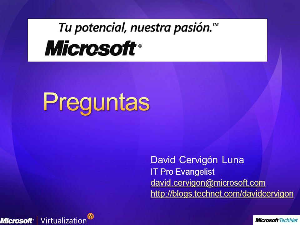 Preguntas David Cervigón Luna IT Pro Evangelist