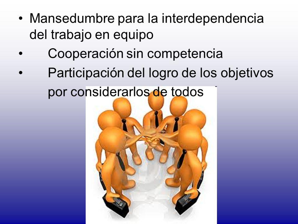 Mansedumbre para la interdependencia del trabajo en equipo