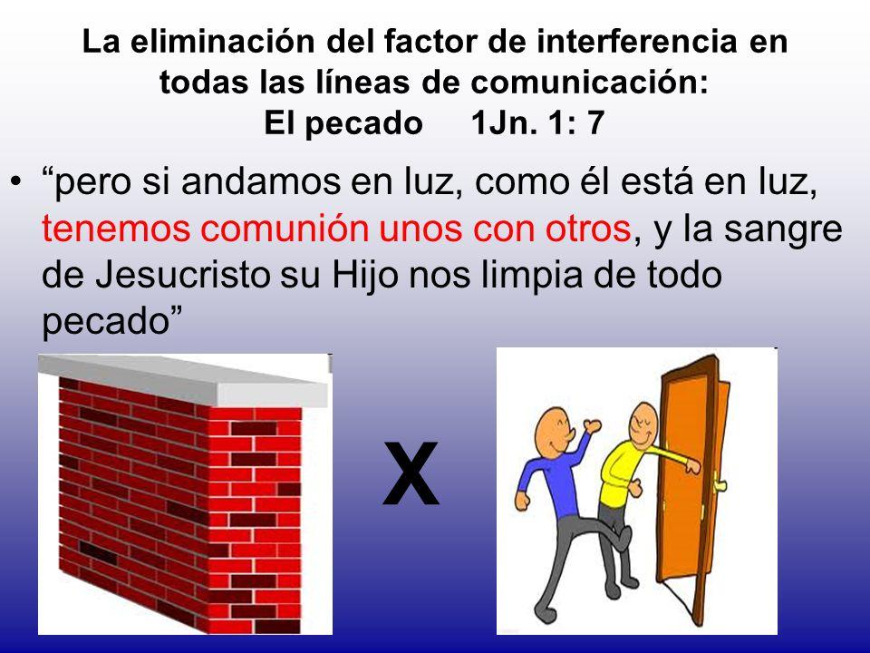 La eliminación del factor de interferencia en todas las líneas de comunicación: El pecado 1Jn. 1: 7