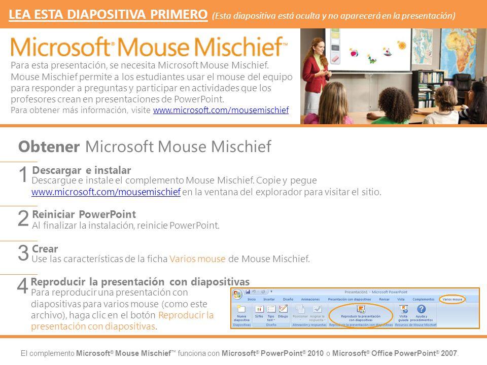 1 2 3 4 Obtener Microsoft Mouse Mischief