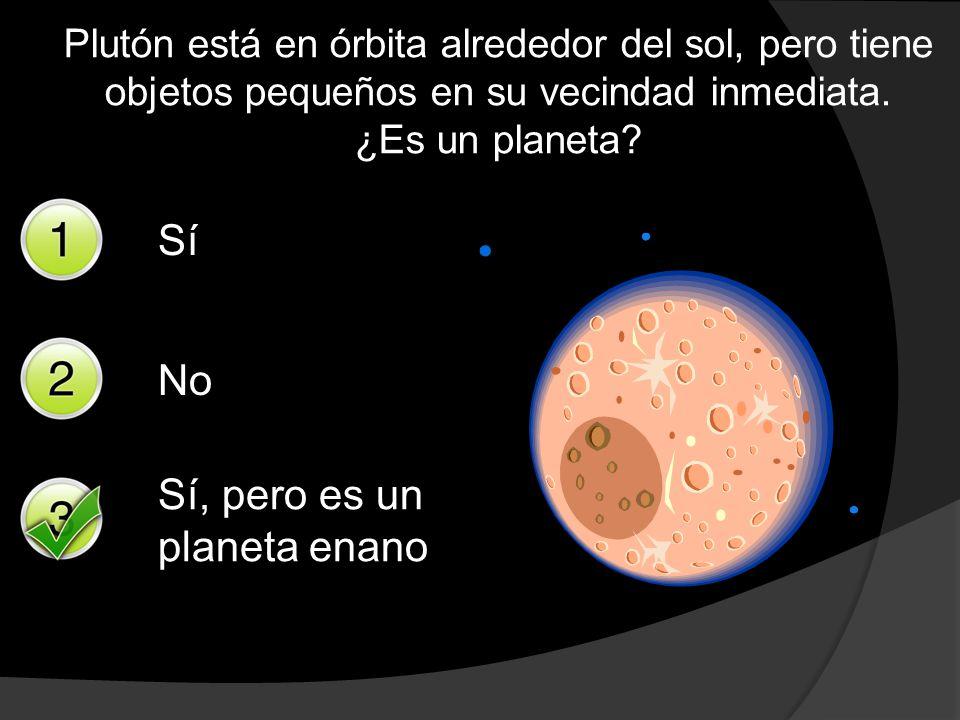 Sí, pero es un planeta enano