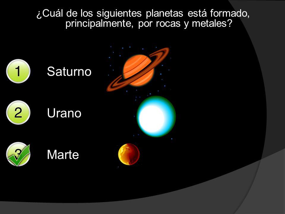 ¿Cuál de los siguientes planetas está formado, principalmente, por rocas y metales