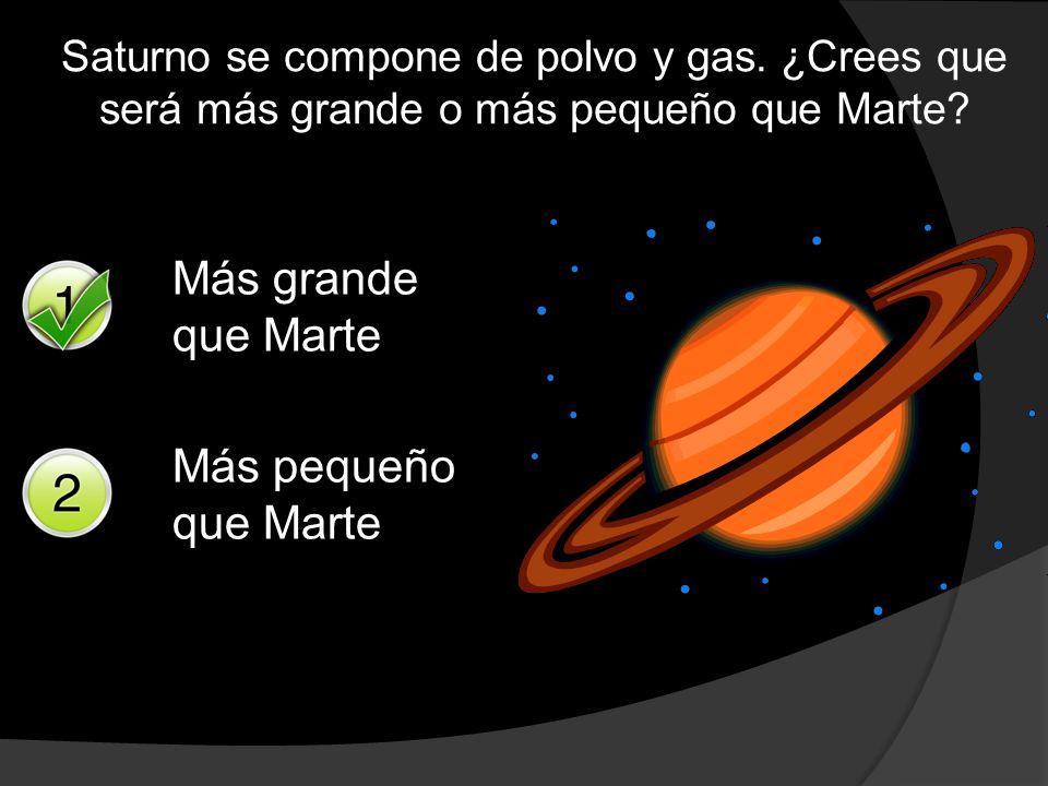 Más grande que Marte Más pequeño que Marte