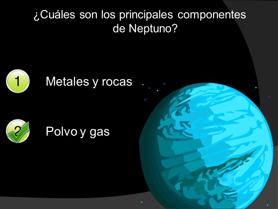 ¿Cuáles son los principales componentes de Neptuno