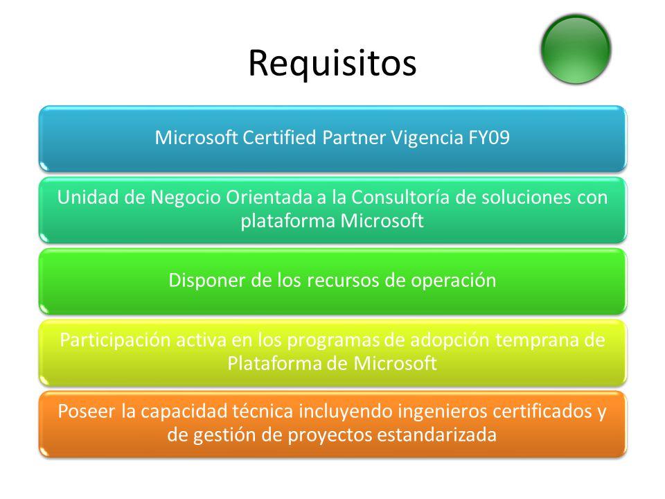 Requisitos Microsoft Certified Partner Vigencia FY09