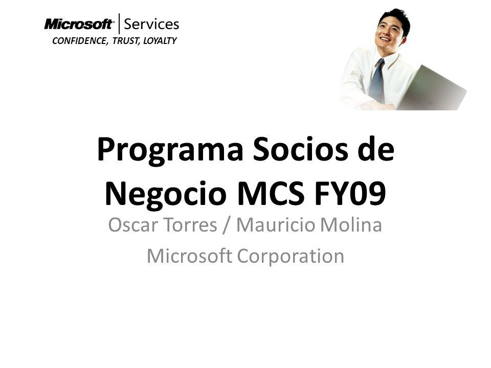 Programa Socios de Negocio MCS FY09