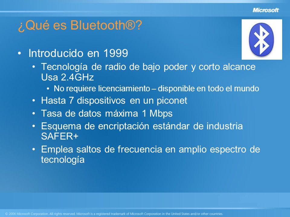 ¿Qué es Bluetooth® Introducido en 1999