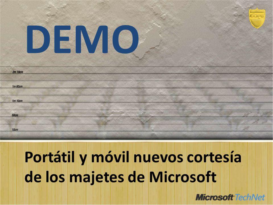 DEMO Portátil y móvil nuevos cortesía de los majetes de Microsoft