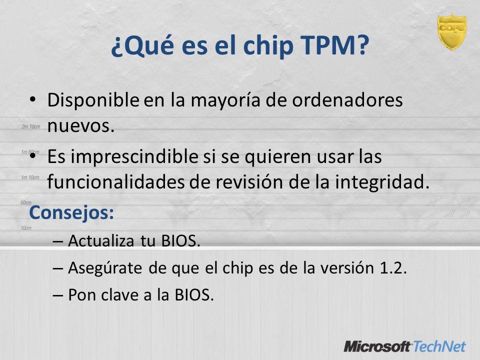 ¿Qué es el chip TPM Disponible en la mayoría de ordenadores nuevos.