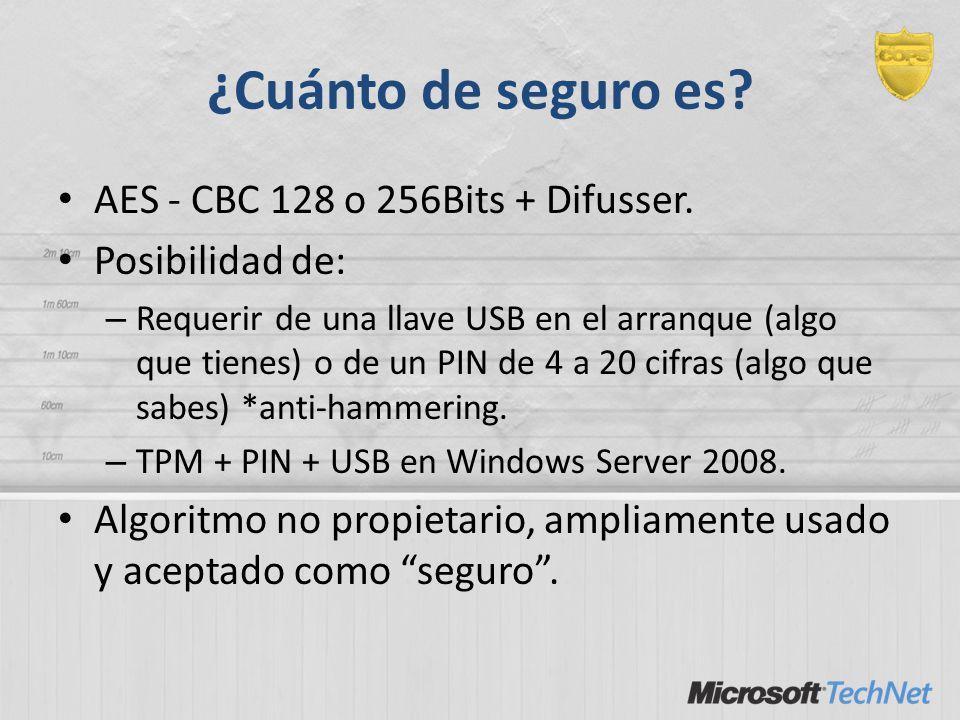 ¿Cuánto de seguro es AES - CBC 128 o 256Bits + Difusser.