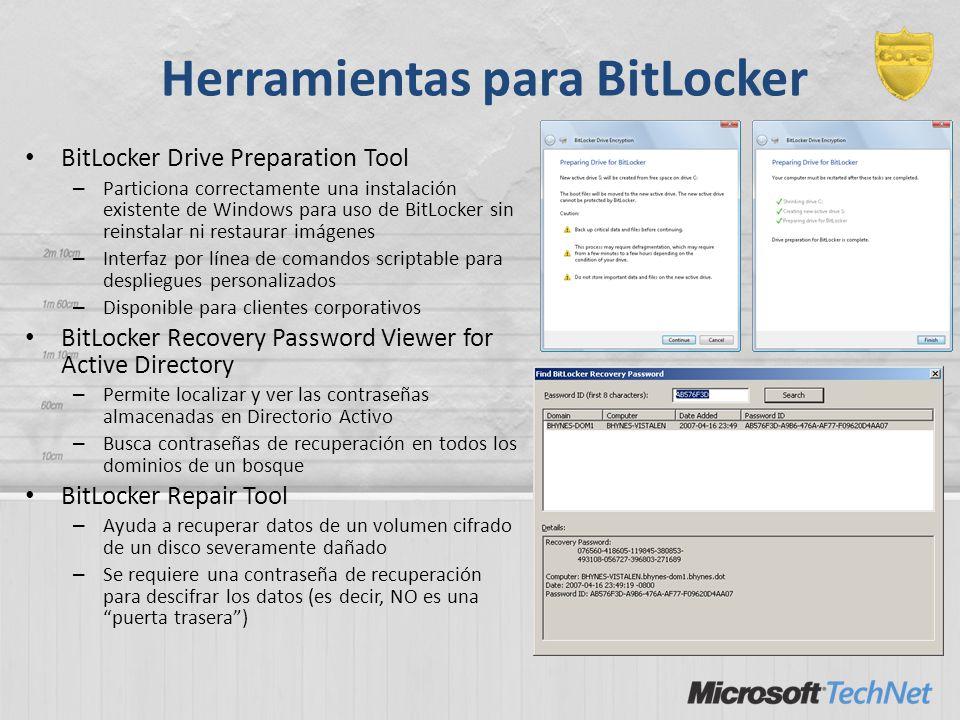 Herramientas para BitLocker