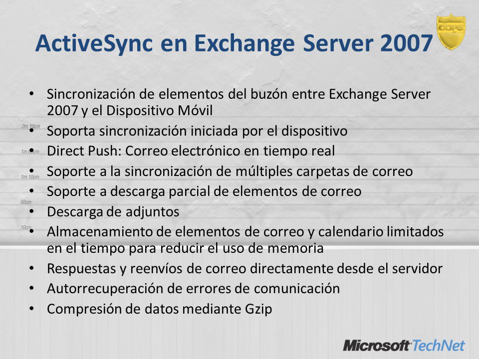 ActiveSync en Exchange Server 2007