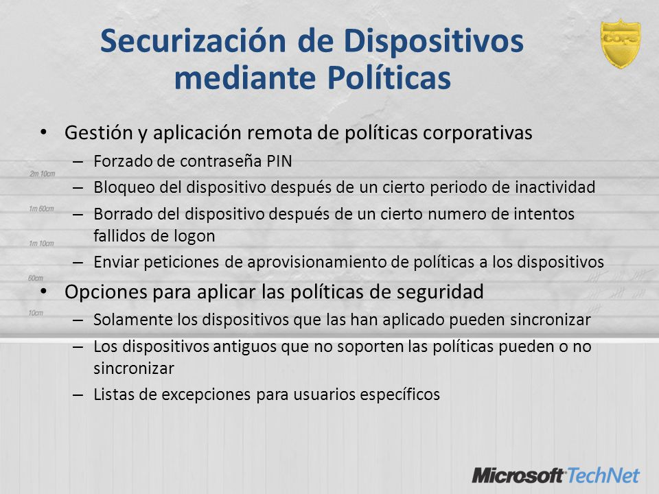 Securización de Dispositivos mediante Políticas