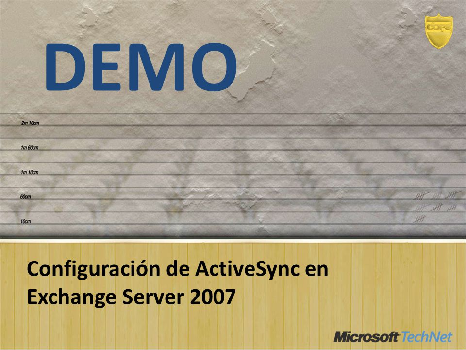 DEMO Configuración de ActiveSync en Exchange Server 2007