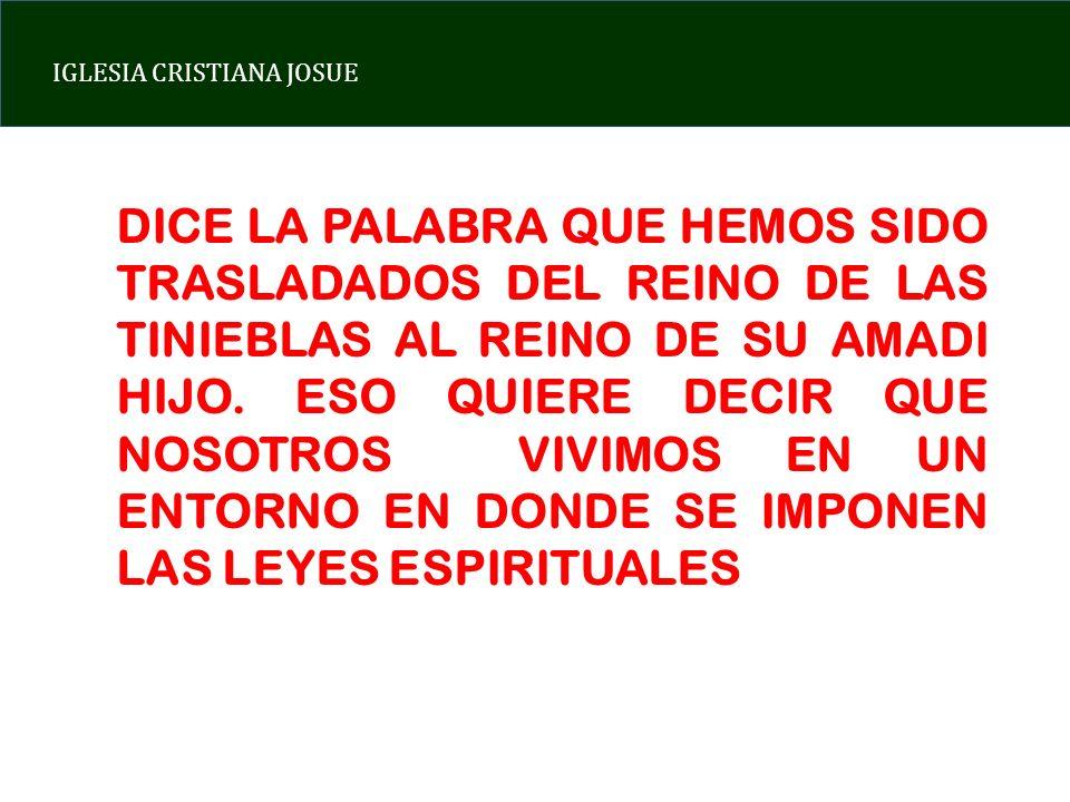 DICE LA PALABRA QUE HEMOS SIDO TRASLADADOS DEL REINO DE LAS TINIEBLAS AL REINO DE SU AMADI HIJO.