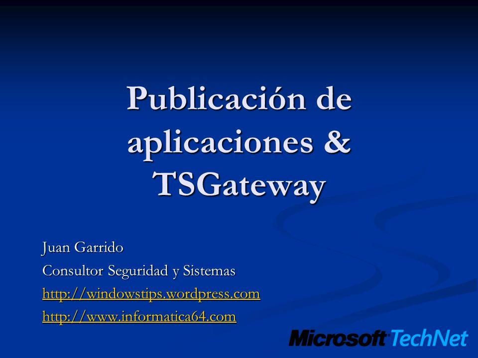 Publicación de aplicaciones & TSGateway