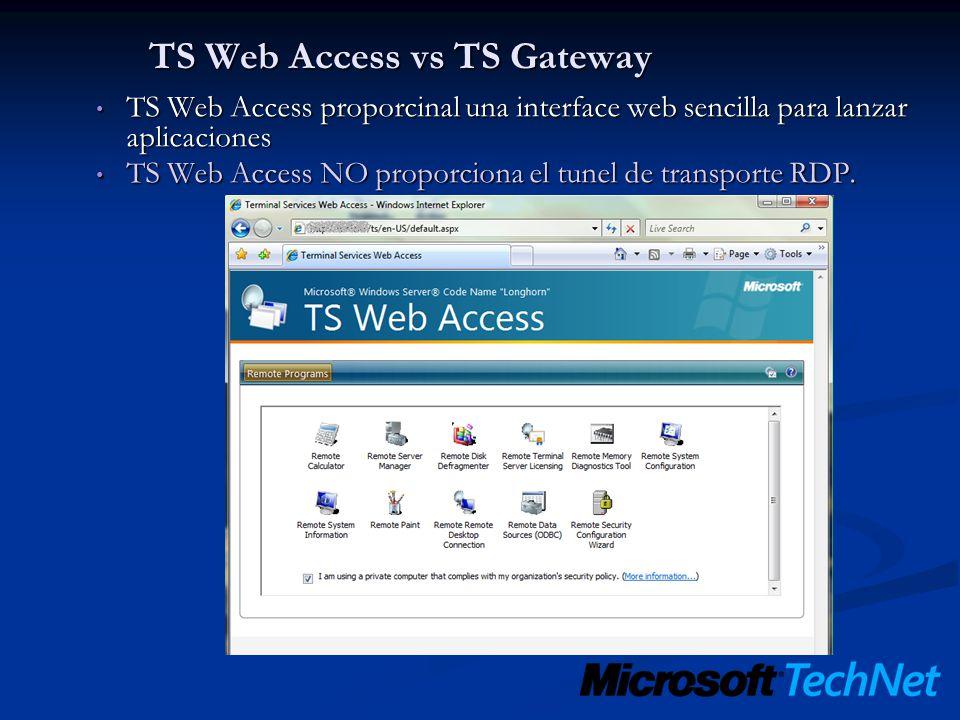TS Web Access vs TS Gateway