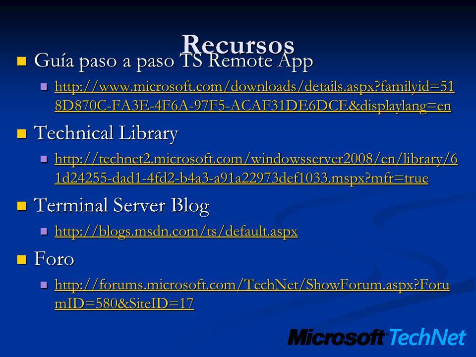 Recursos Guía paso a paso TS Remote App Technical Library