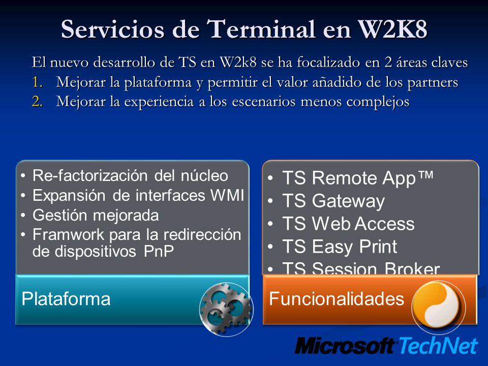 Servicios de Terminal en W2K8