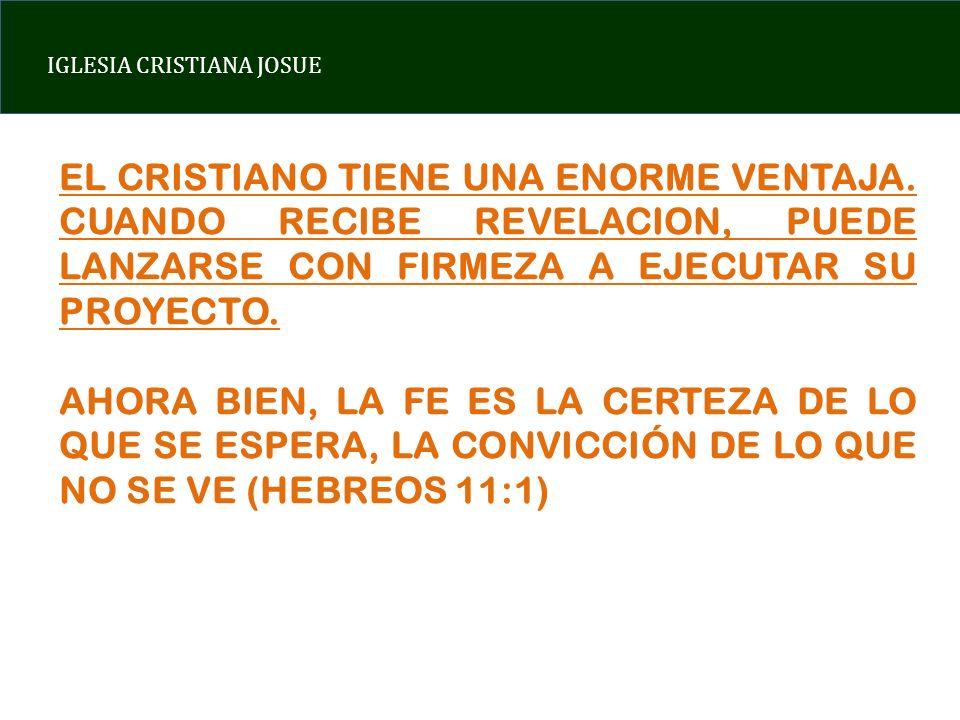 EL CRISTIANO TIENE UNA ENORME VENTAJA