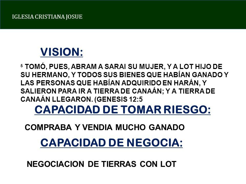 CAPACIDAD DE TOMAR RIESGO: