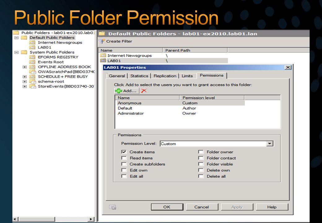 Public Folder Permission