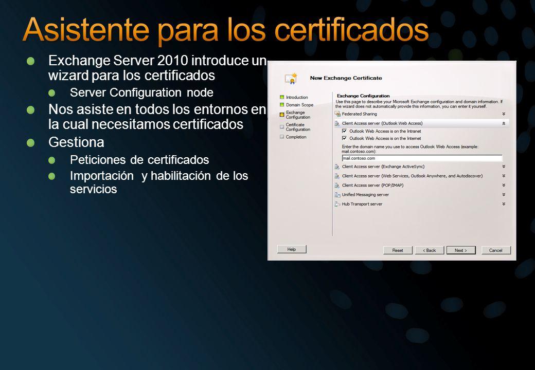 Asistente para los certificados