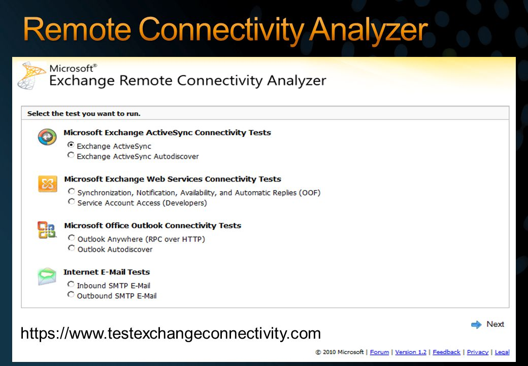 Remote Connectivity Analyzer