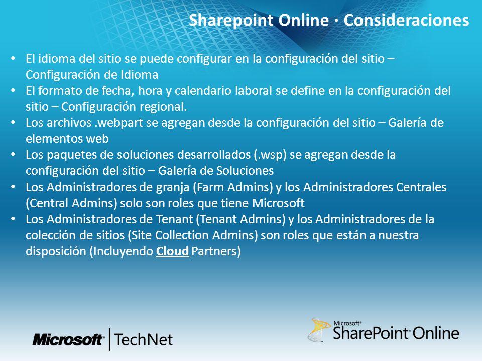 Sharepoint Online · Consideraciones