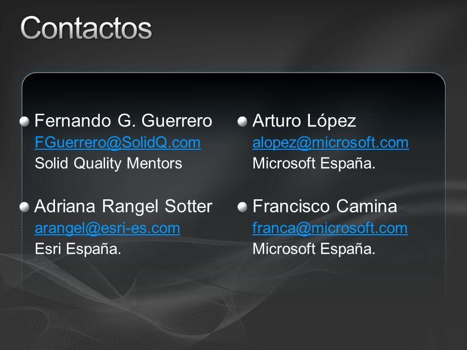 Contactos Fernando G. Guerrero Adriana Rangel Sotter Arturo López