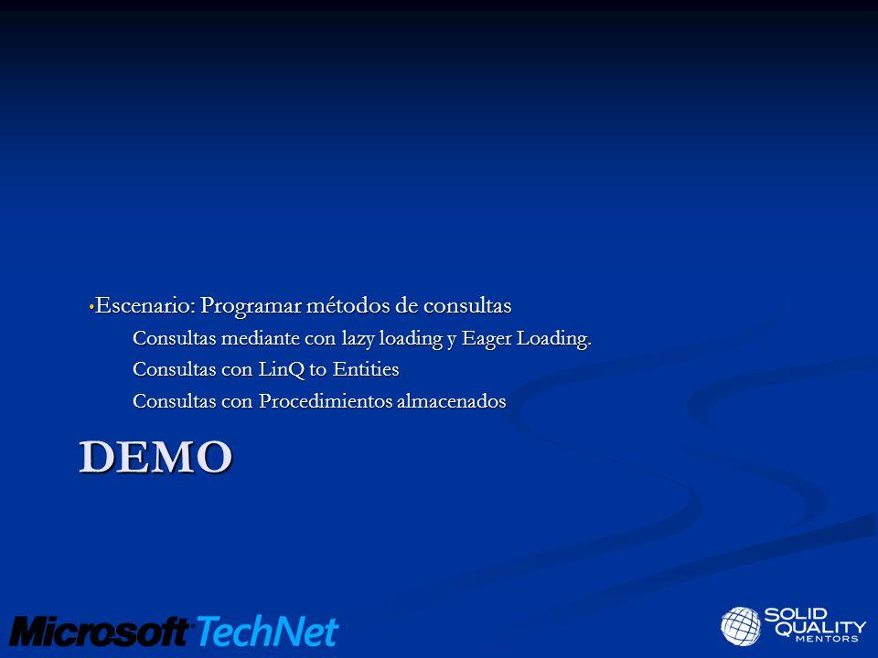 DEMO Escenario: Programar métodos de consultas