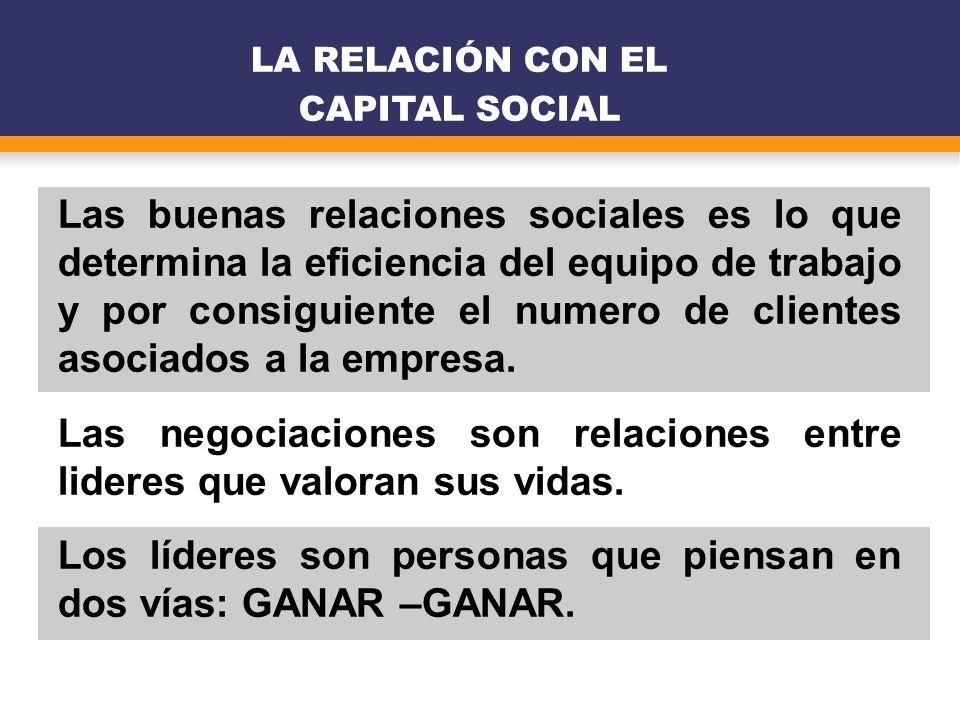LA RELACIÓN CON EL CAPITAL SOCIAL
