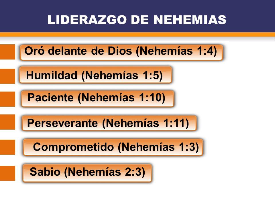 LIDERAZGO DE NEHEMIAS Oró delante de Dios (Nehemías 1:4)