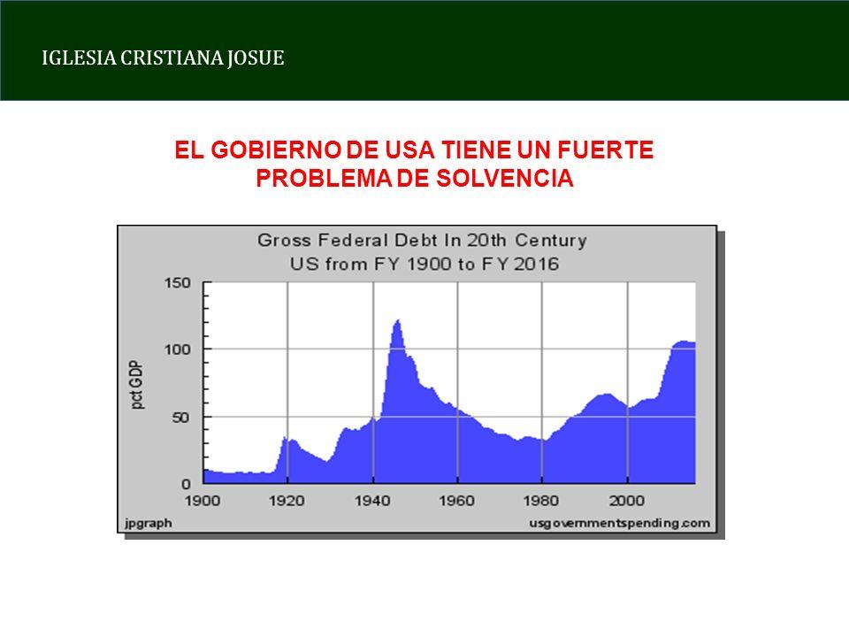 EL GOBIERNO DE USA TIENE UN FUERTE PROBLEMA DE SOLVENCIA
