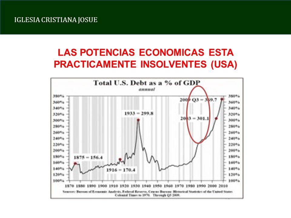 LAS POTENCIAS ECONOMICAS ESTA PRACTICAMENTE INSOLVENTES (USA)
