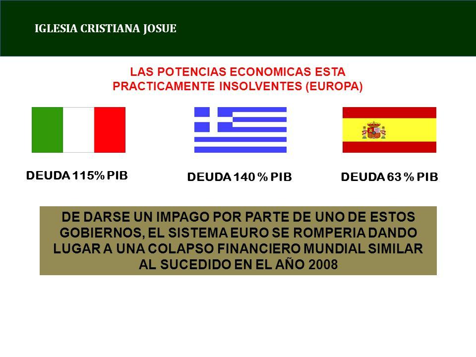 LAS POTENCIAS ECONOMICAS ESTA PRACTICAMENTE INSOLVENTES (EUROPA)