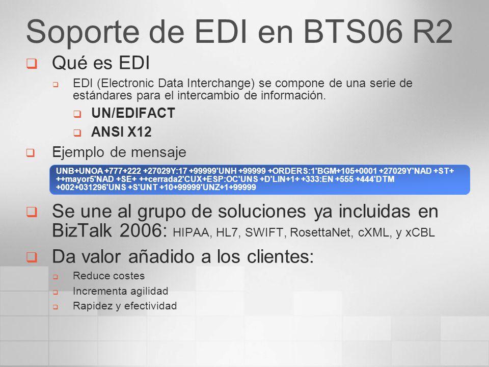 Soporte de EDI en BTS06 R2 Qué es EDI