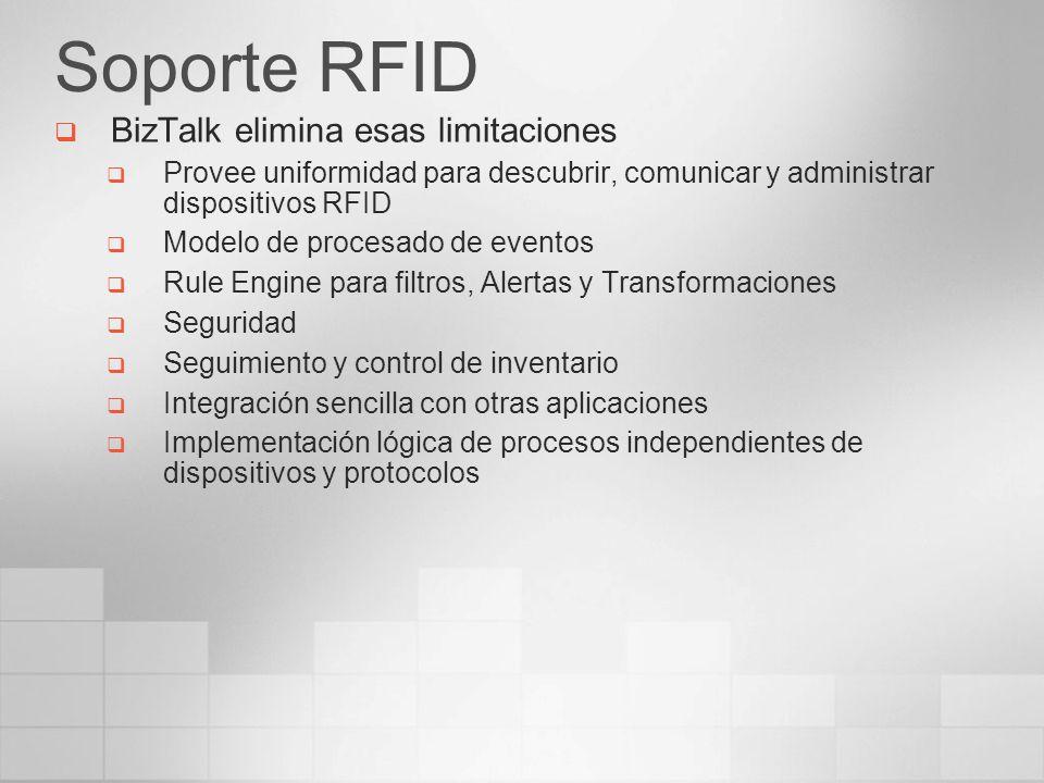 Soporte RFID BizTalk elimina esas limitaciones