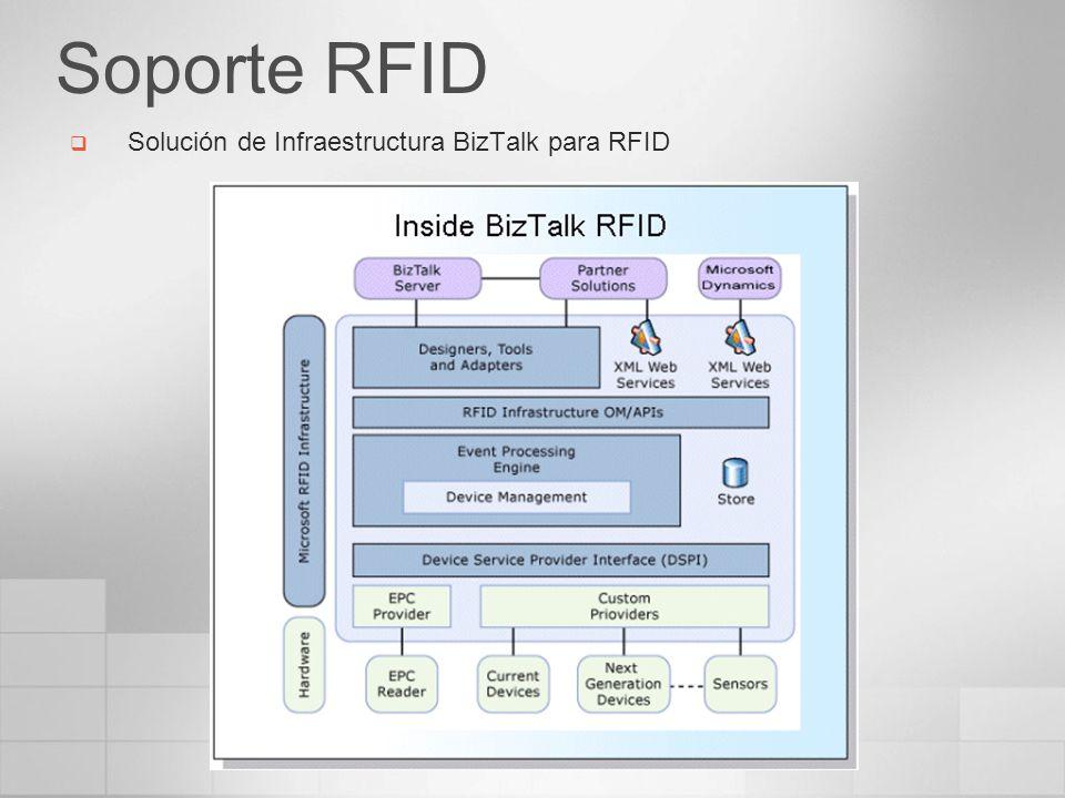 Soporte RFID Solución de Infraestructura BizTalk para RFID