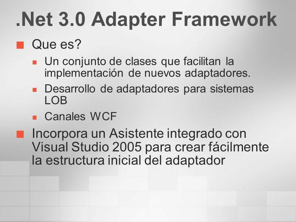 .Net 3.0 Adapter Framework Que es