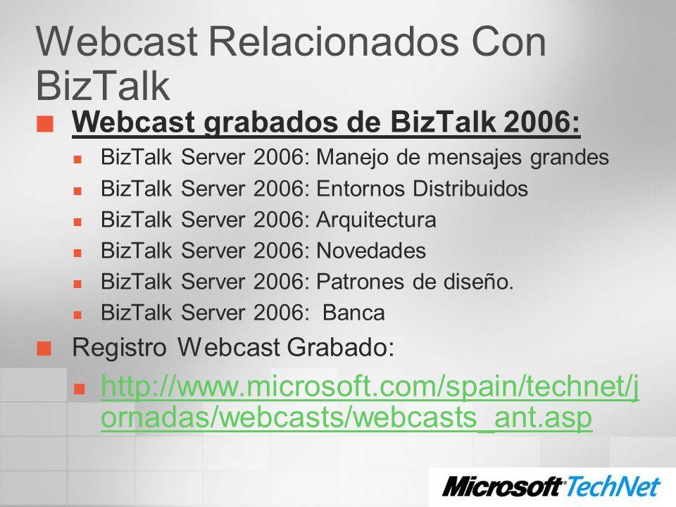 Webcast Relacionados Con BizTalk