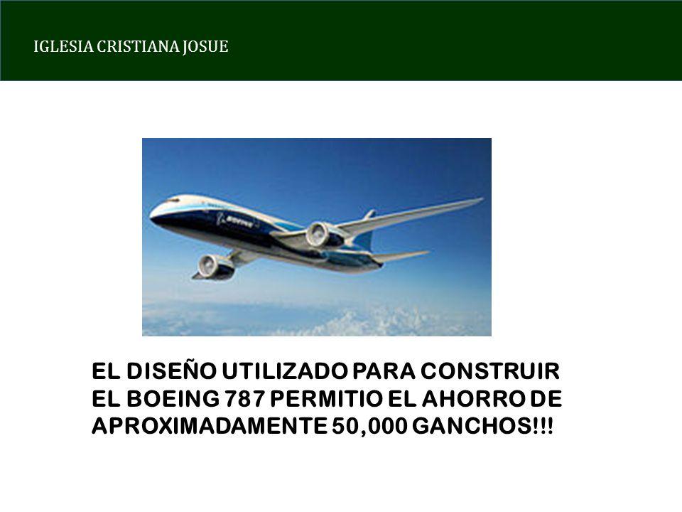 EL DISEÑO UTILIZADO PARA CONSTRUIR EL BOEING 787 PERMITIO EL AHORRO DE APROXIMADAMENTE 50,000 GANCHOS!!!